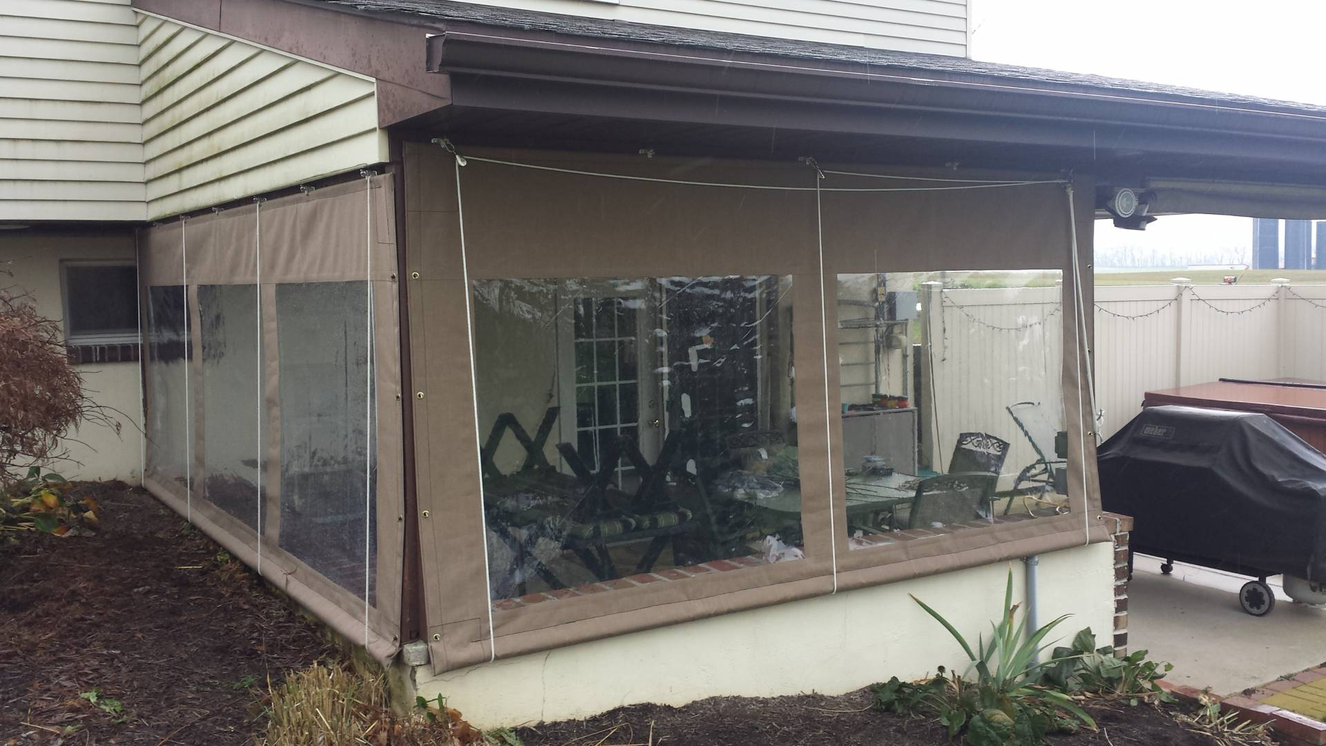 Clear vinyl roll up and curtains clear vinyl curtains for Outdoor plastic curtains for patio