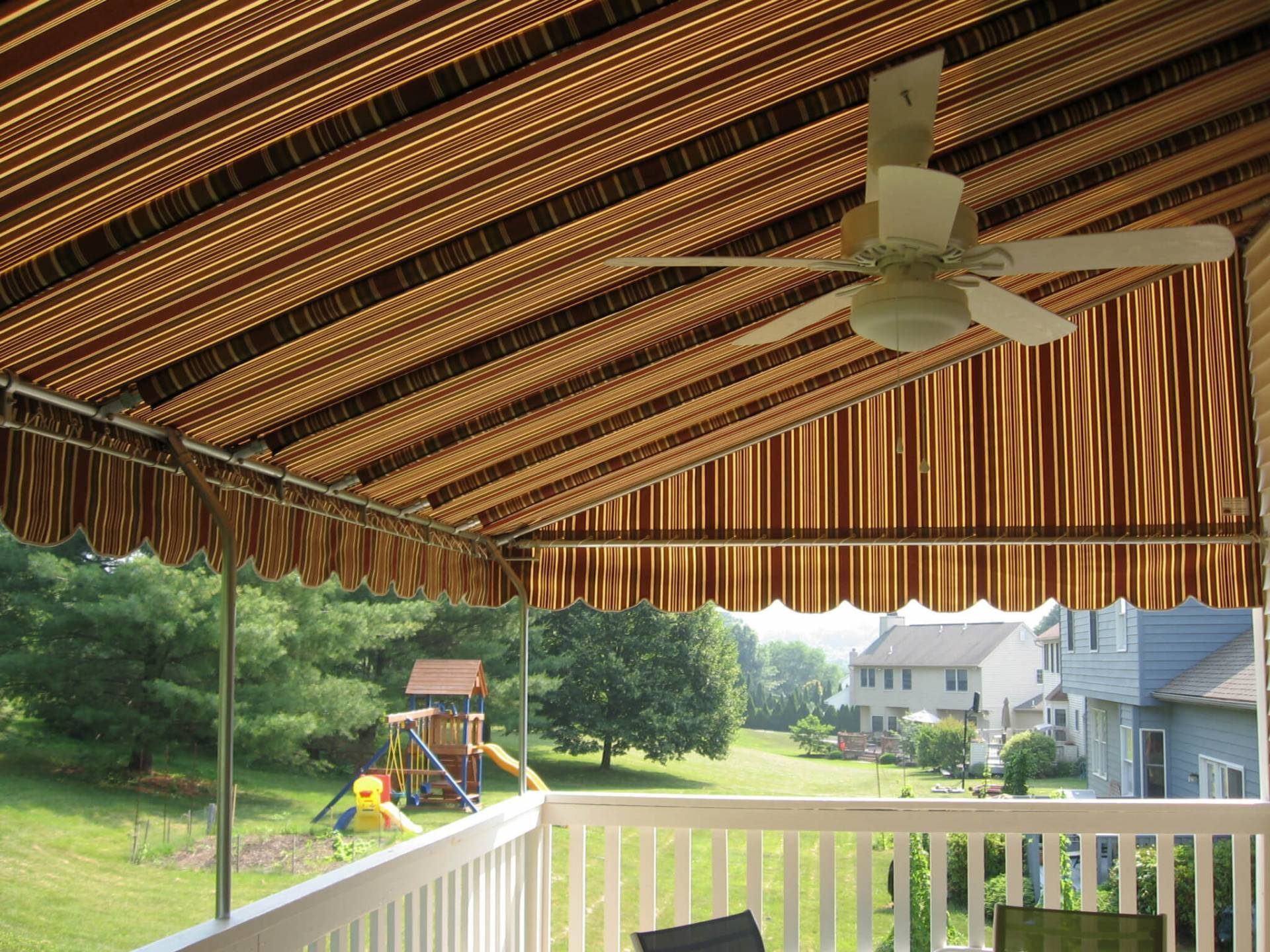 Sunbrella Fabric Awning With Galvanized Steel Frame And