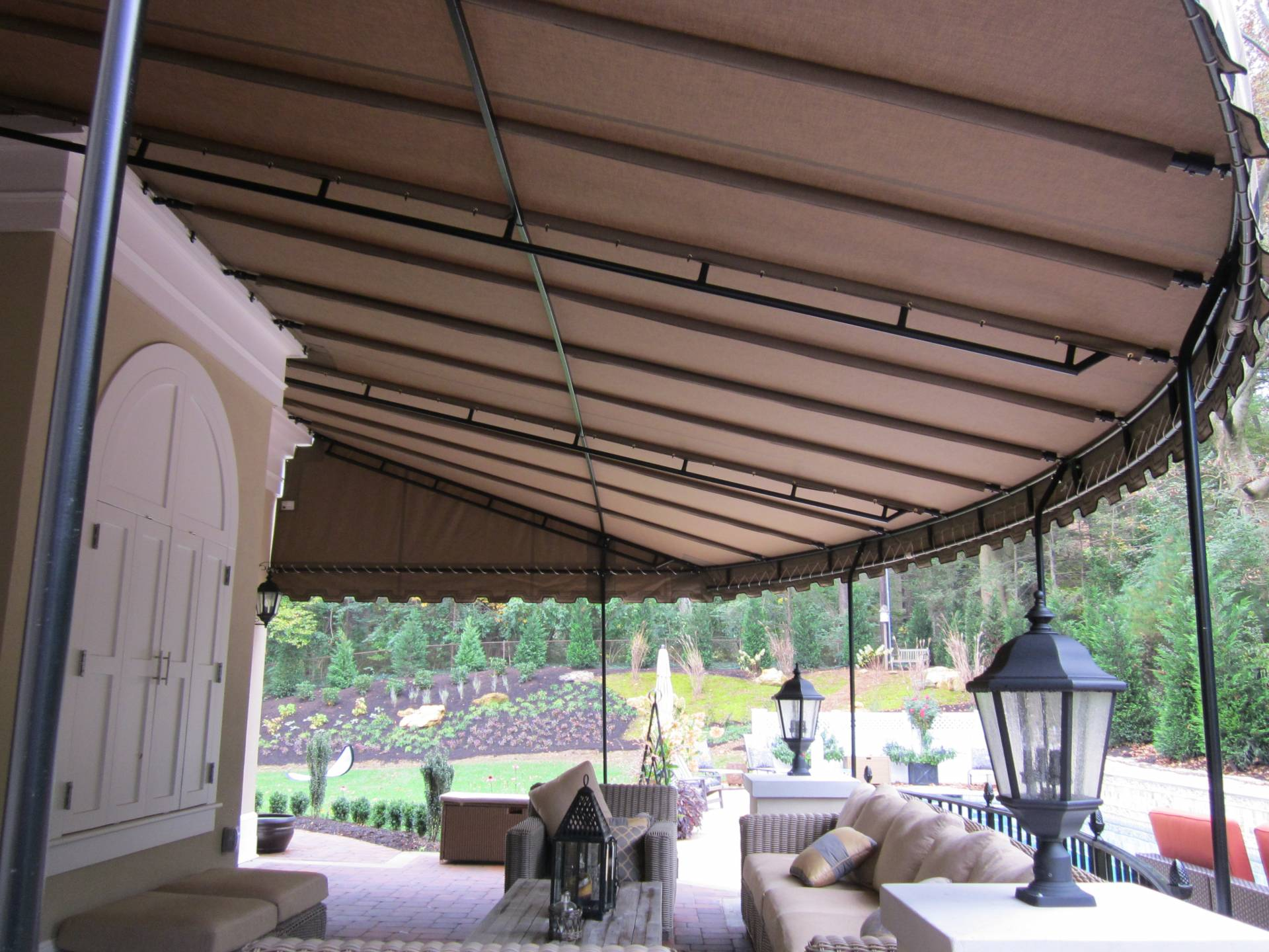 round front edge canopy install in Wyomissing Pa   Kreider ...