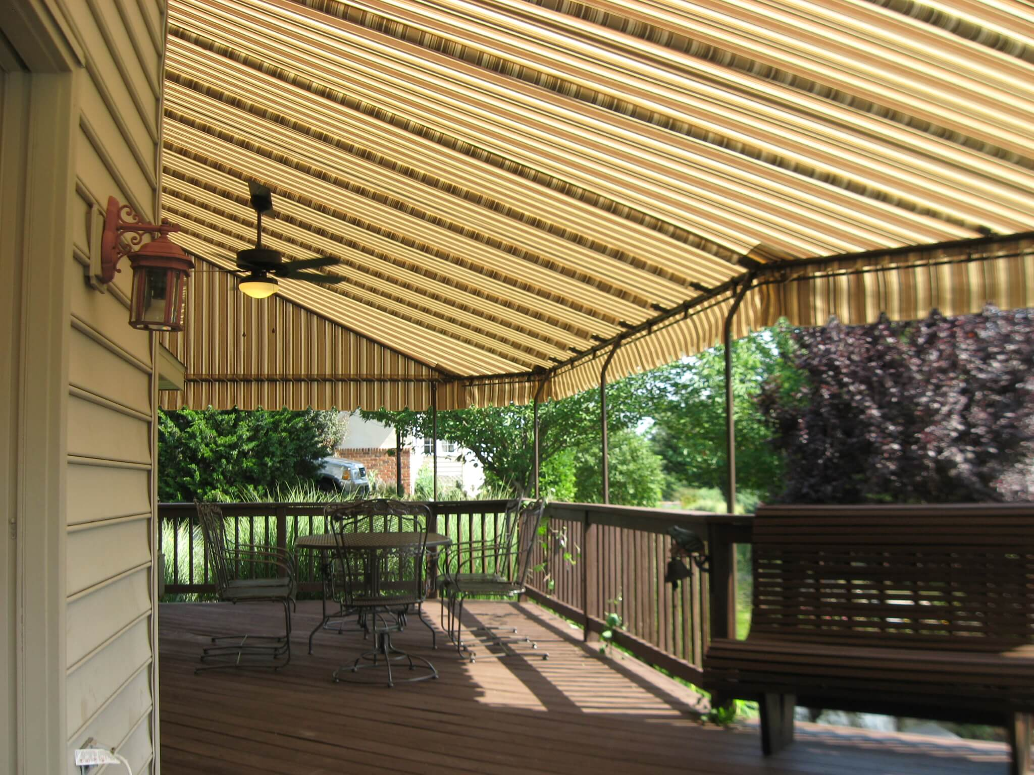 residential deck awning new holland pa kreider s canvas