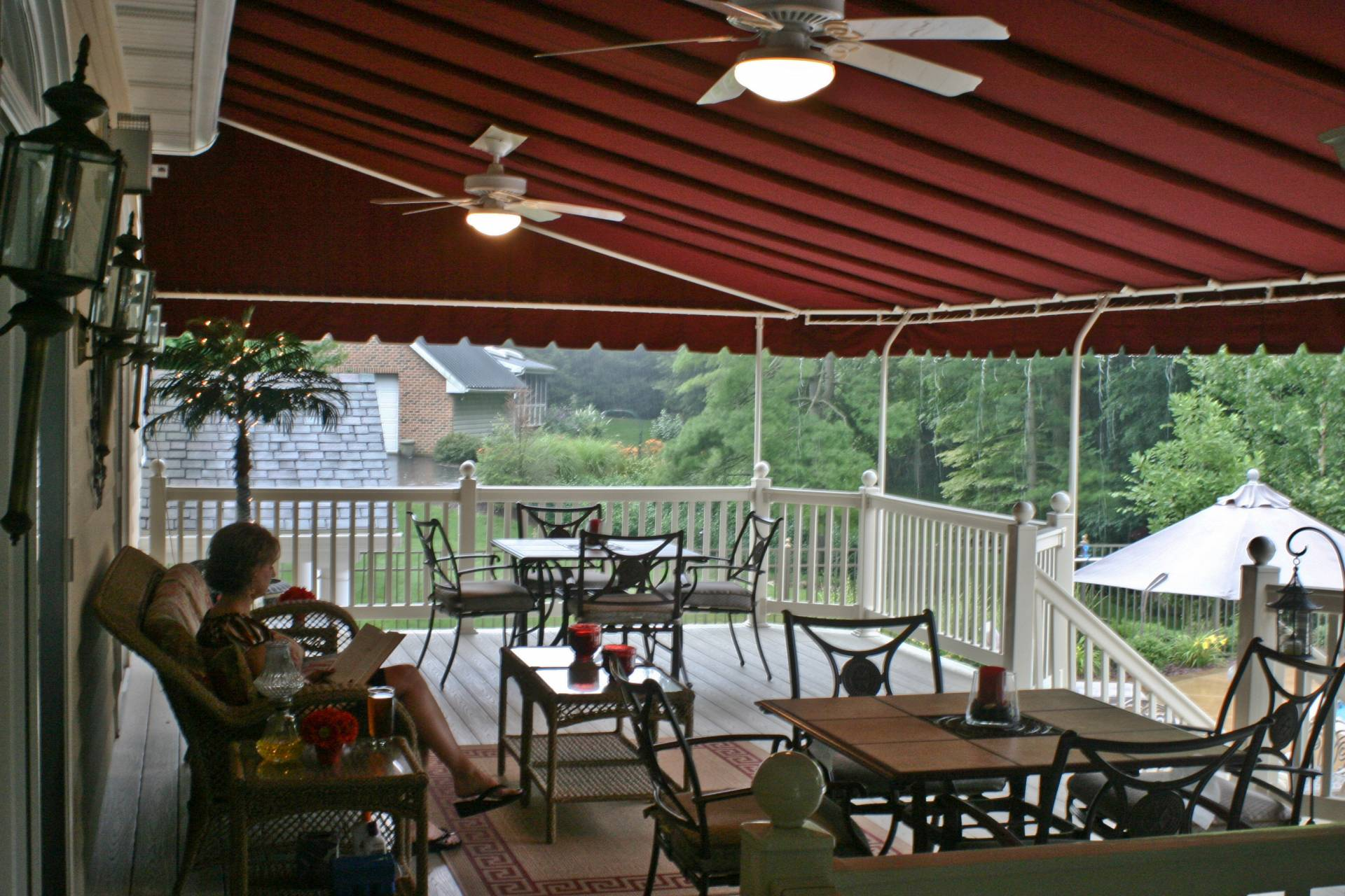 Stationary Deck Canopy Kreider S Canvas Service Inc