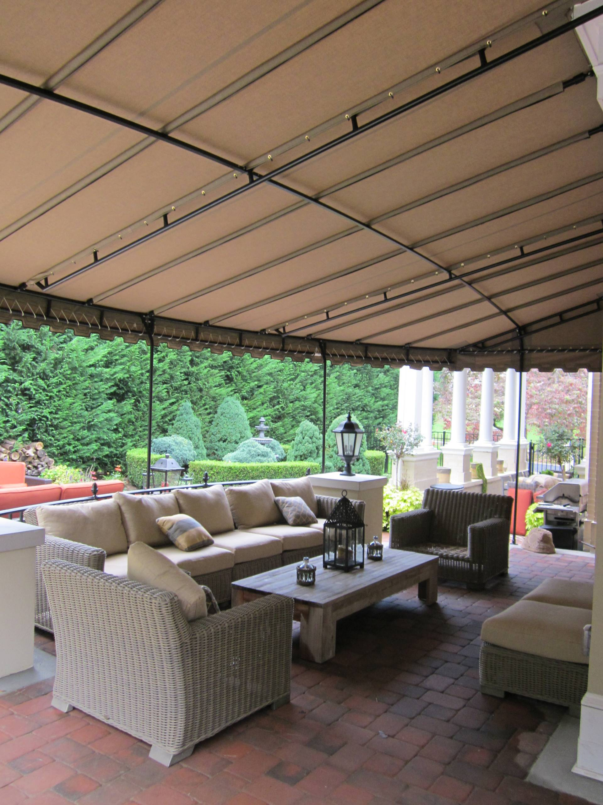 Patio Canopy - wall mount - round front | Kreider's Canvas ...