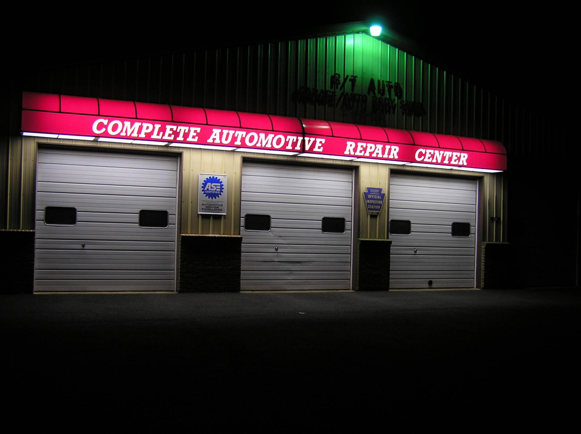 Backlit Awning Complete Automotive Repair Center