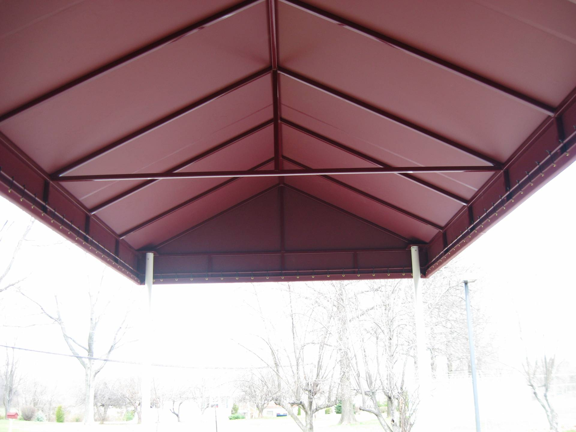 Gable style entrance canopy kreider 39 s canvas service inc - Canvas canopy ...