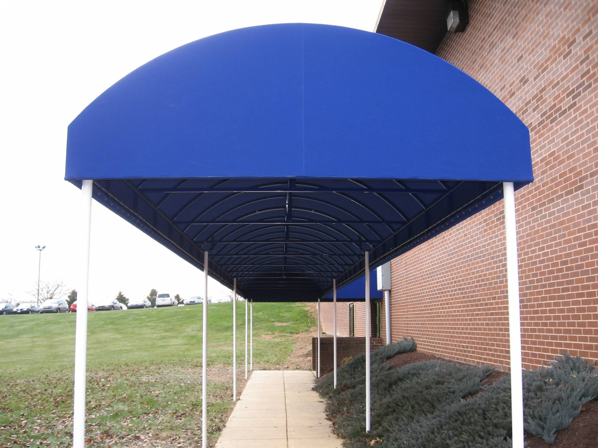 Blue walkway canopy kreider 39 s canvas service inc - Canvas canopy ...