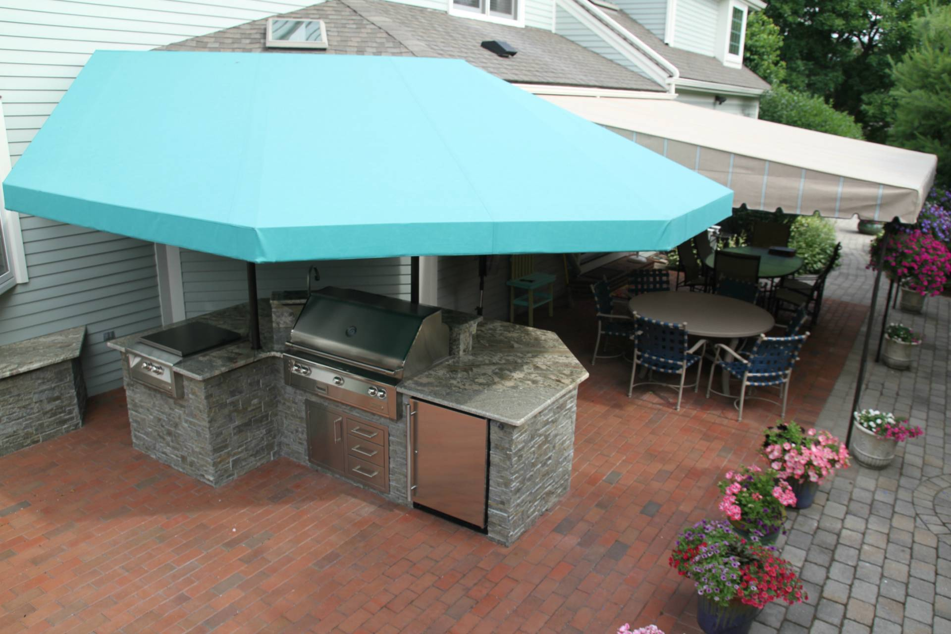 Outdoor Kitchen Canopy Cover Kreider S Canvas Service Inc
