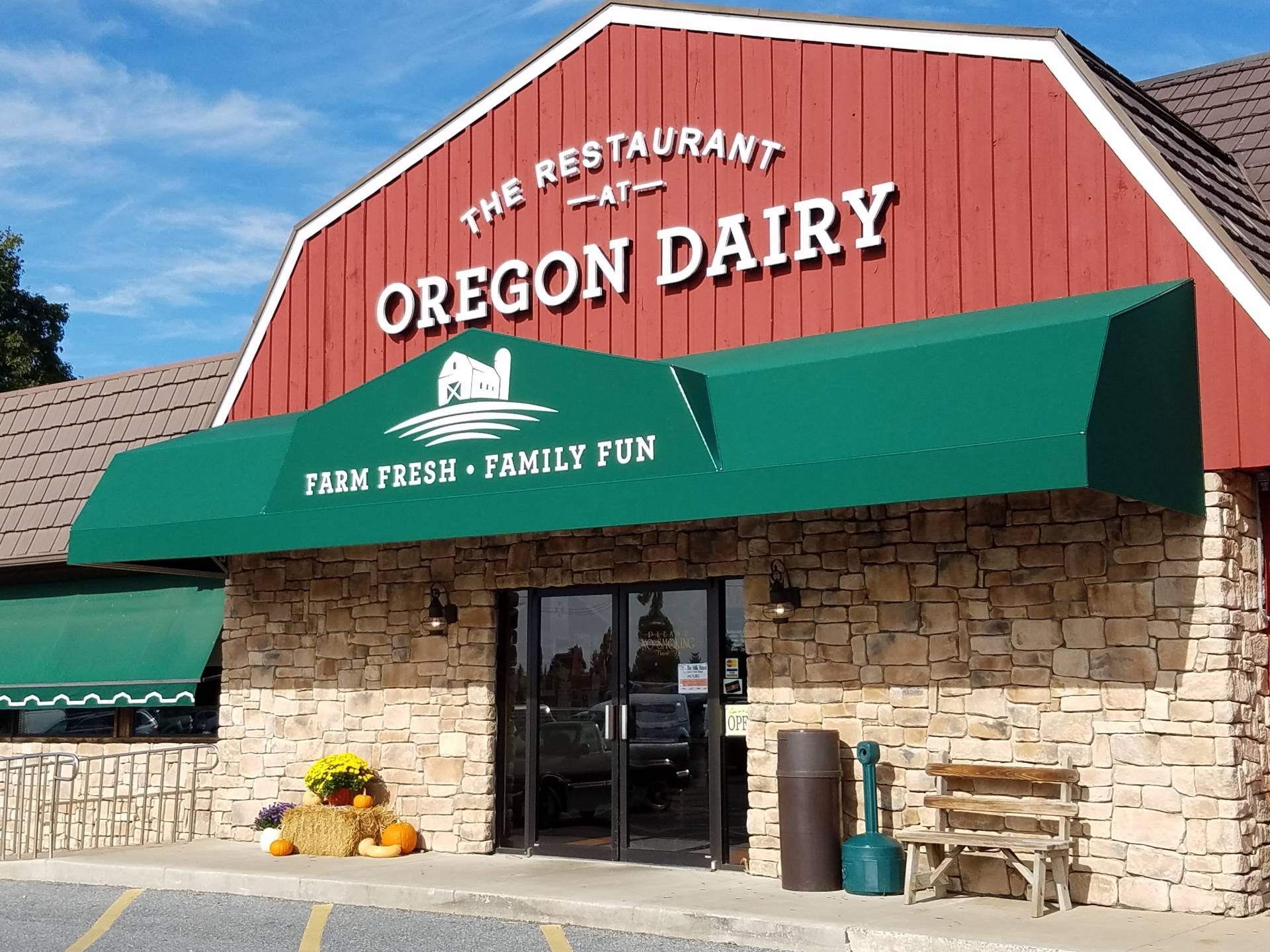 Awning The Restaurant At Oregon Dairy Kreider S Canvas