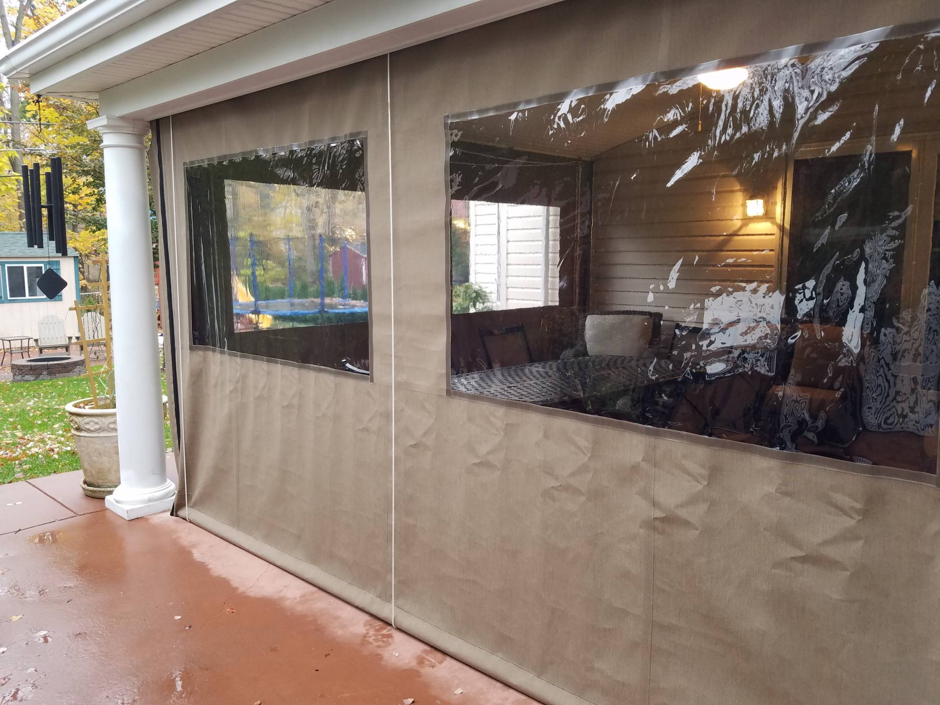 Clear Drop Curtain Enclosure Kreider S Canvas Service Inc
