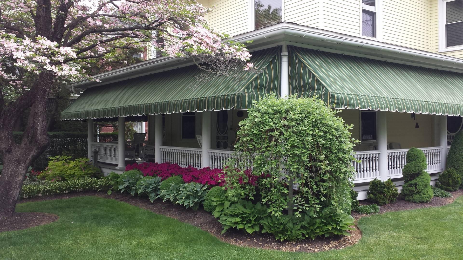 Residential Porch Awning Lititz Pa Kreider S Canvas