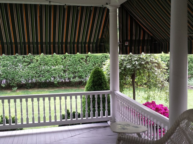 Striped Porch Awning Kreider S Canvas Service Inc