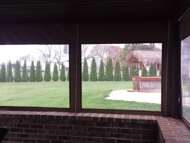Clear Drop Curtains Installed On A Porch Kreider S