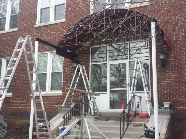 Arched Style Entrance Canopy J L Clark Kreider S