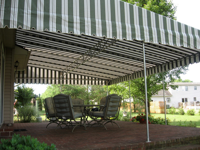 Stationary canvas Canopy over a patio FRAME ONLY PHOTO