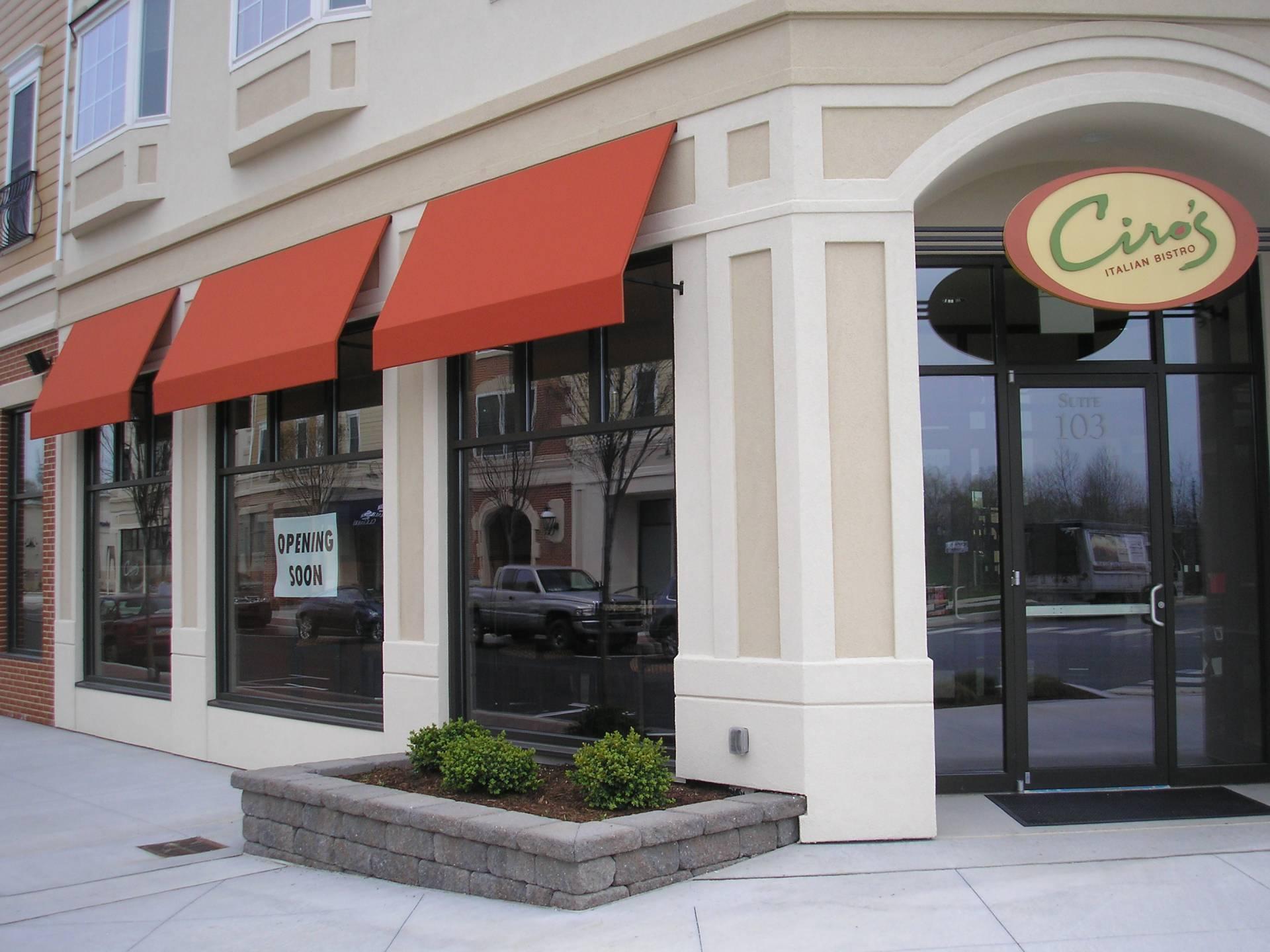 Ciro S Italian Bistro Restaurant Awnings Lancaster Pa