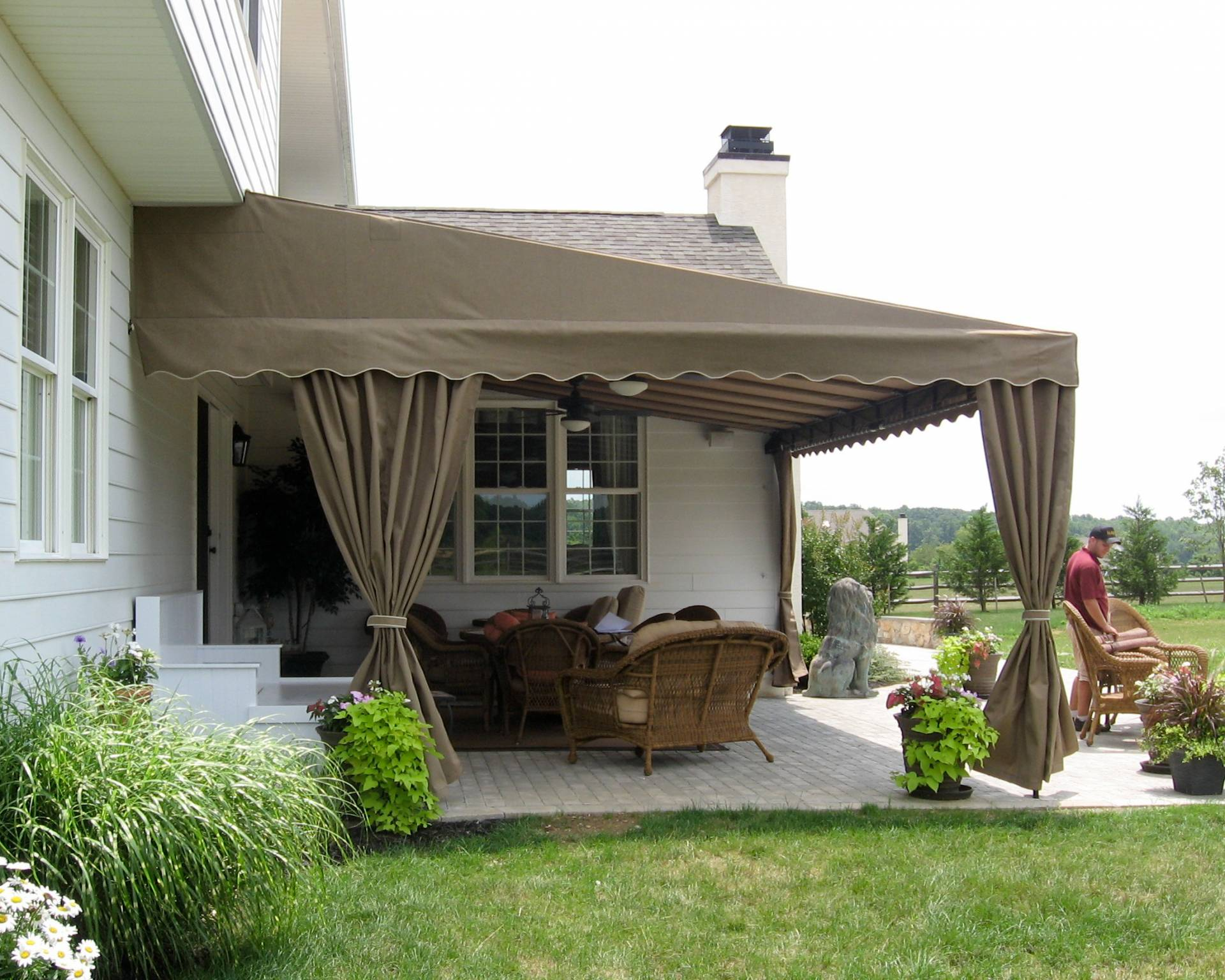 Residential deck or patio awning