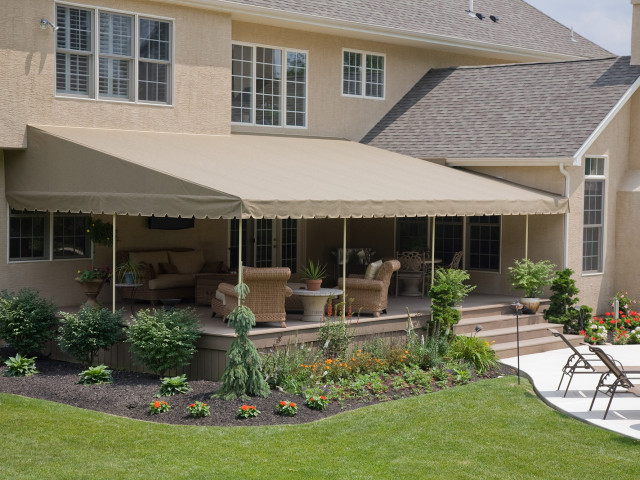 Residential deck awning canopy