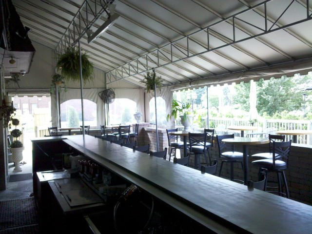 Commercial awnings. Dining awning canopy york pa