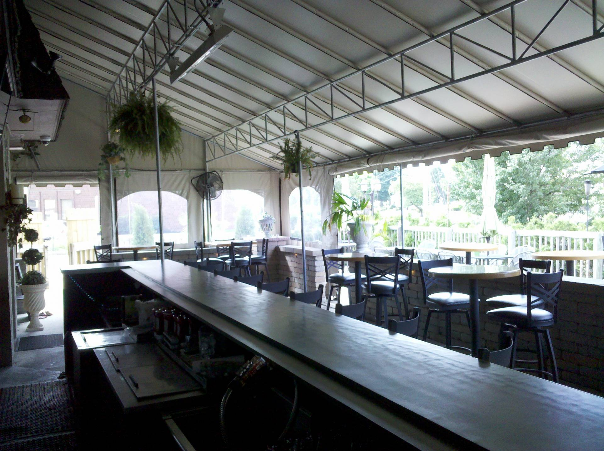 Dining Canopy Over Bar Area In York Kreider S Canvas