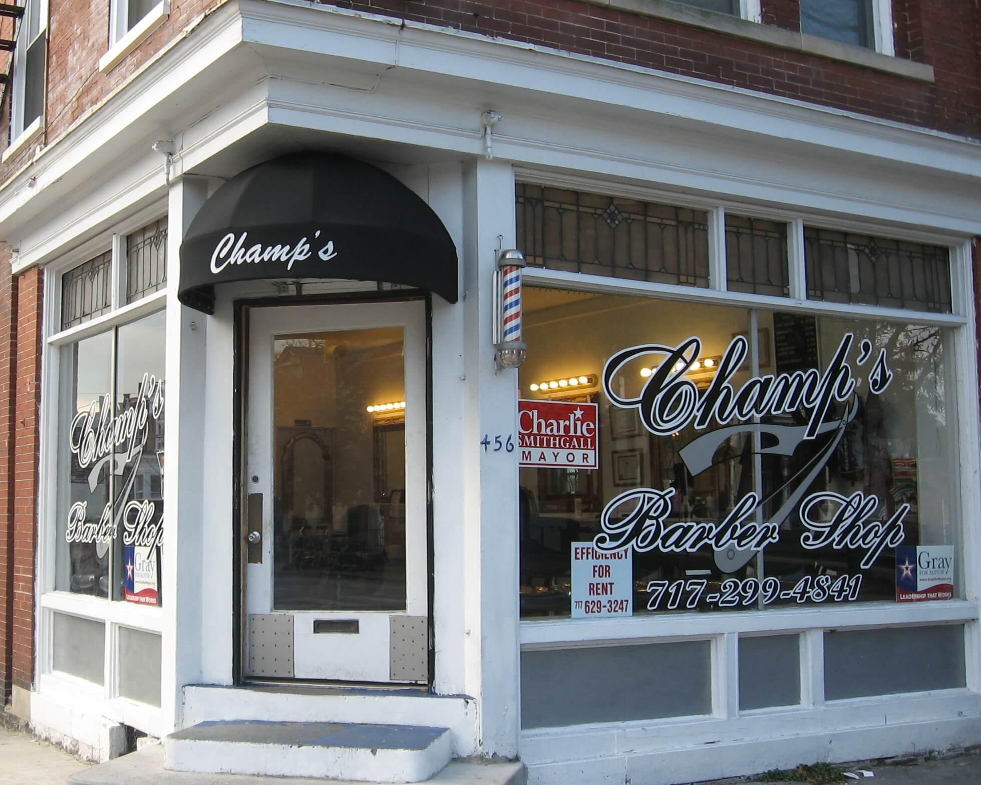 Barber Shop Awning Bullnose Kreider S Canvas Service Inc