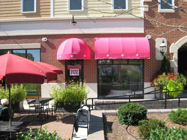 Pink fabric awnings Lancaster PA