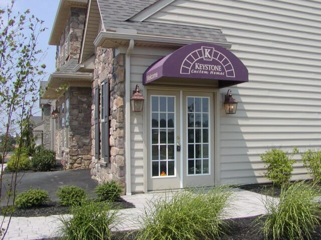 Office awning for Keystone Custom Homes Lancaster PA