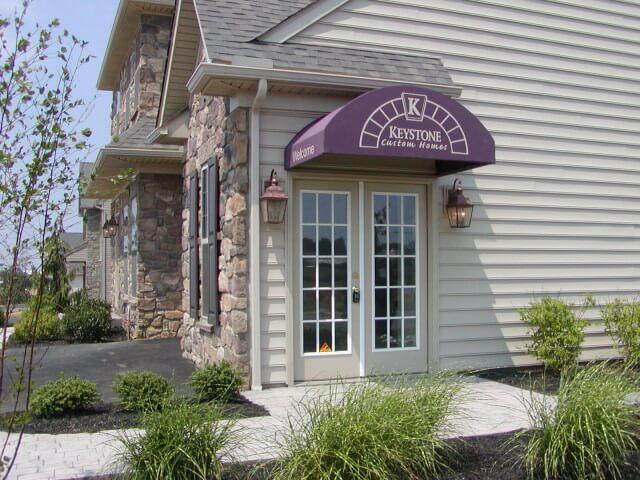 Office awning for Keystone Custom Homes Lancaster PA