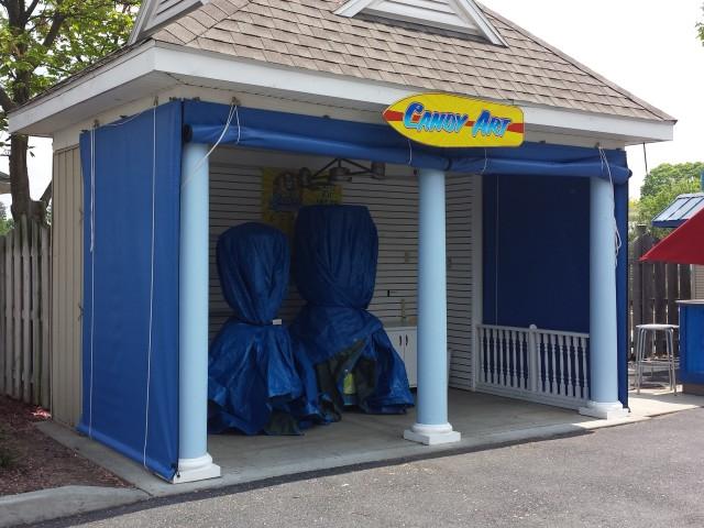 Commercial drop curtains