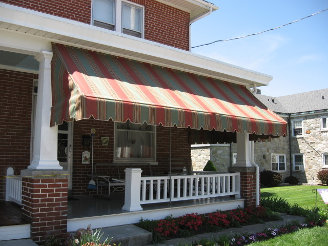 Shade and protect your porch with an awning