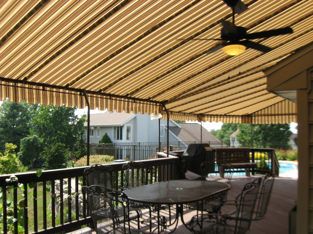 45 degree corners on this large deck canopy