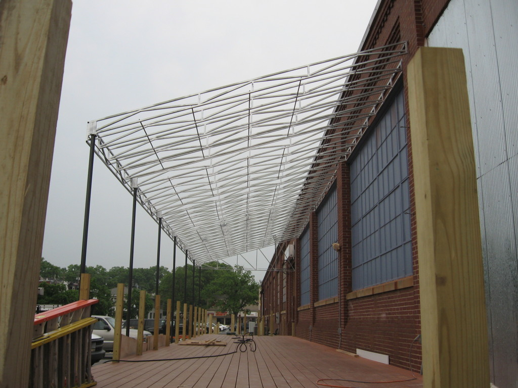 Commercial Dining Canopy Awning Frame Kreider S Canvas