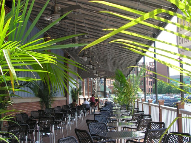Commercial dining canopy awning frame