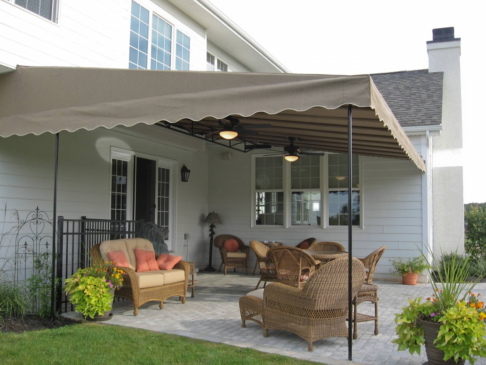 Patio Canopy. Downingtown PA Ceiling fans | Kreider's ...