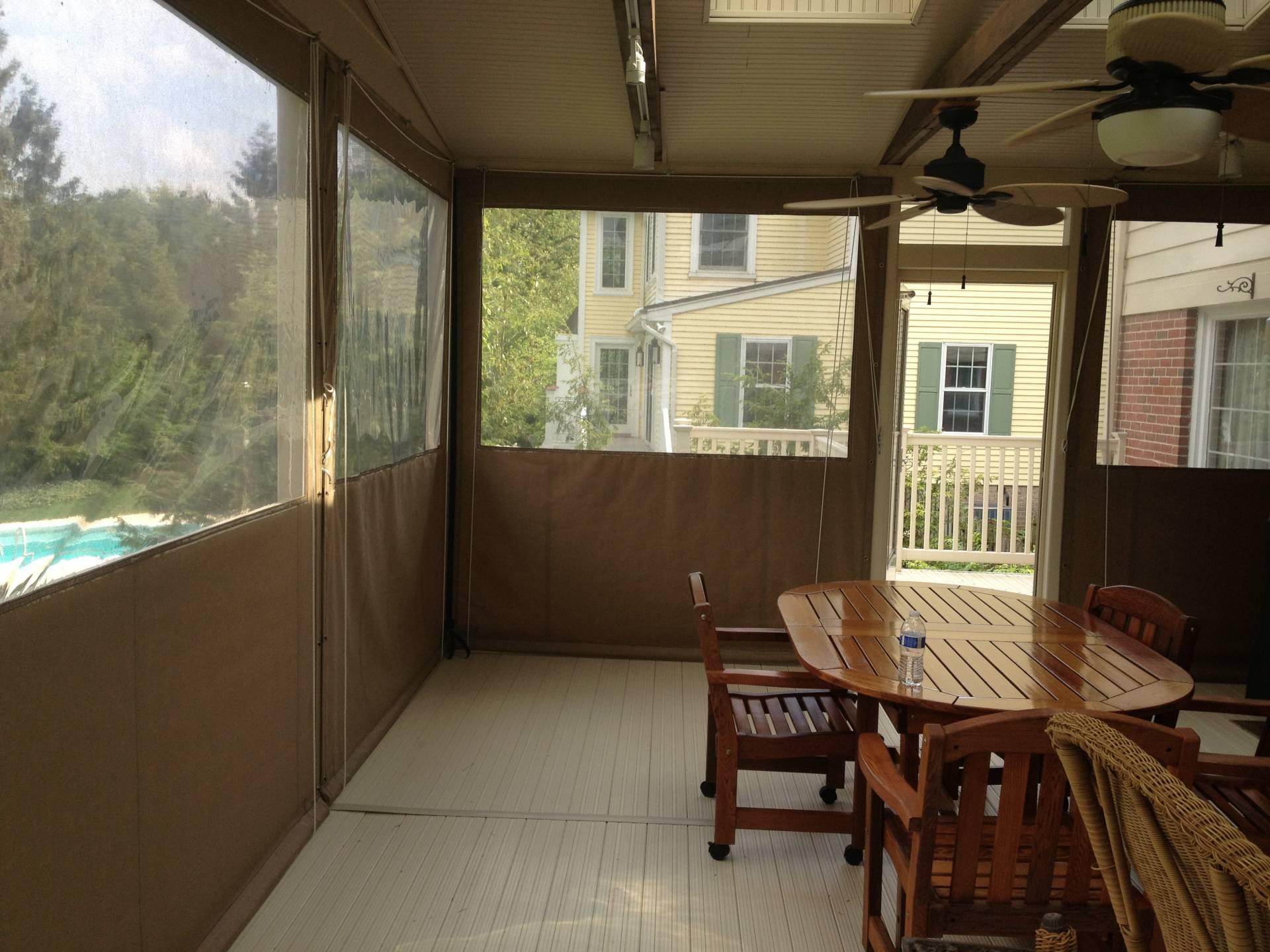 Porch Enclosure Clear Vinyl Drop Curtains Kreider S