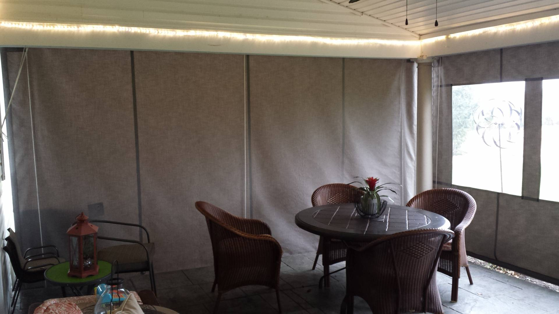 Clear Vinyl Drop Curtains Enclosure