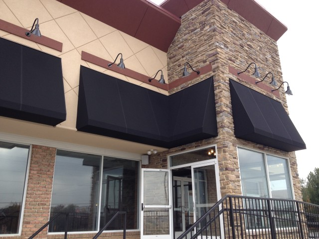 Commercial cafe awnings