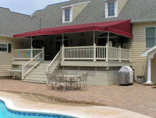 Custom Canvas deck awning in Douglasville Pa