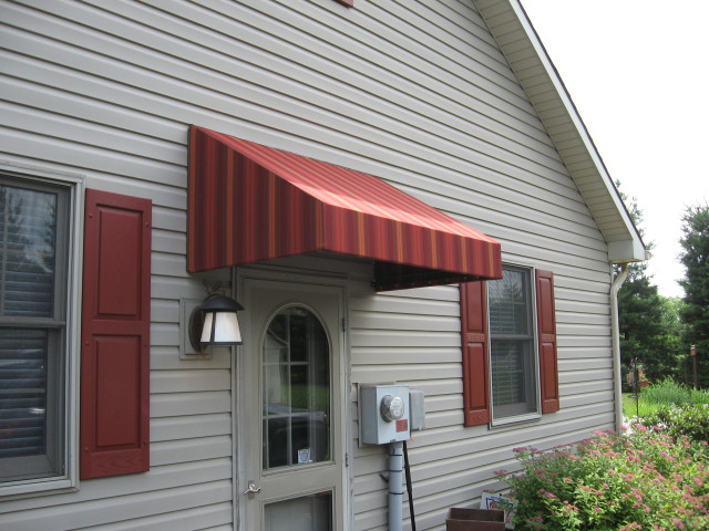 Welded frame doorhood awning