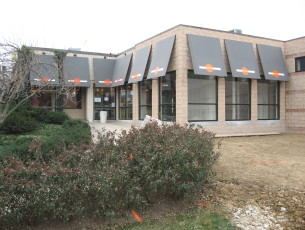 Commercial Sunbrella fabric awnings