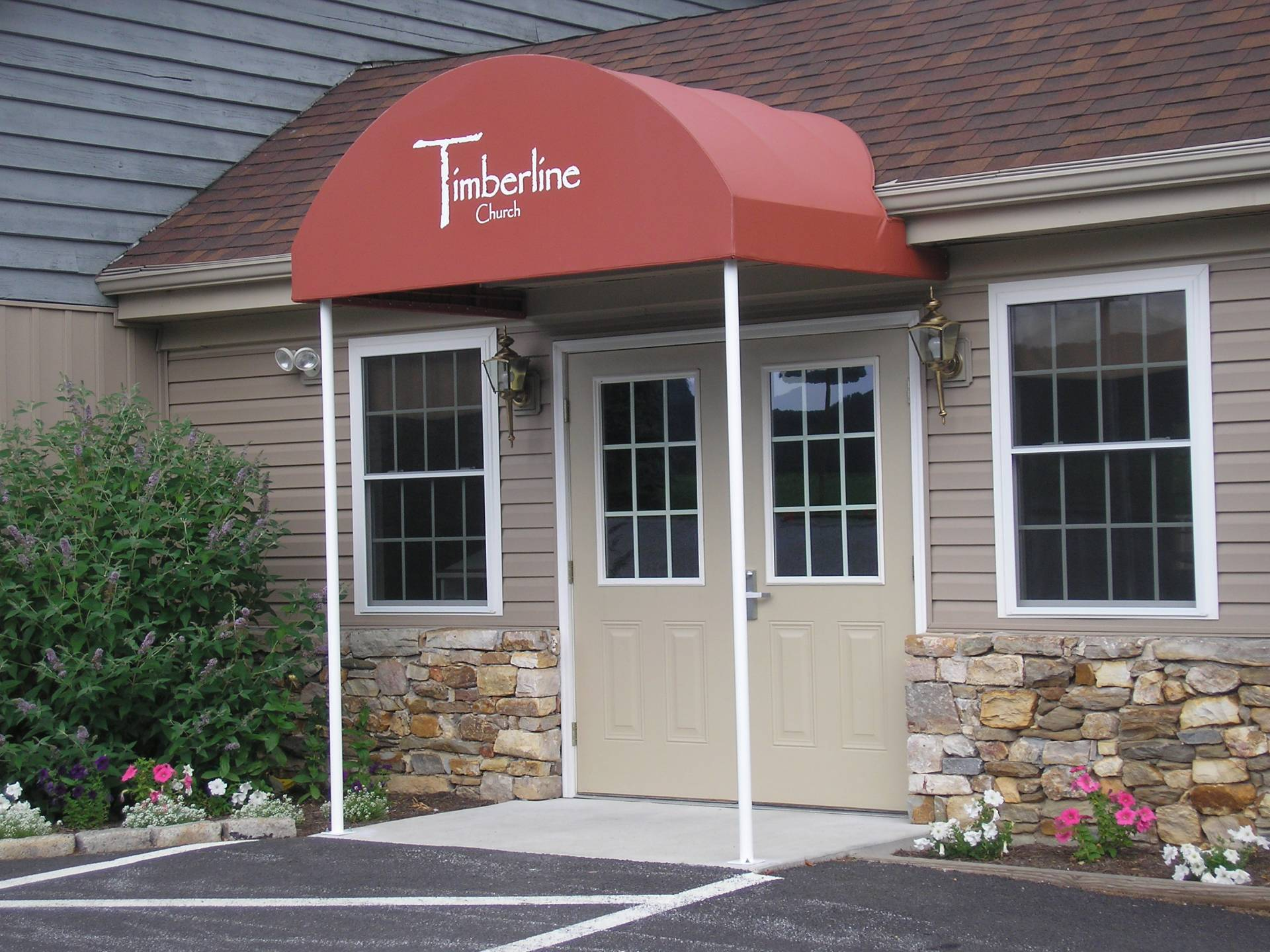 Canvas Entrance Awning With Uprights Strasburg Pa