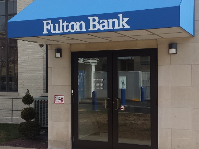 Pa State Store Hours >> Fulton Bank Doorhood | Kreider's Canvas Service, Inc.