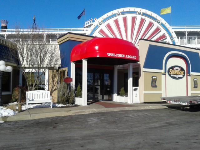 Backlit Entrance Canopy Steamboat Inn Kreider S Canvas