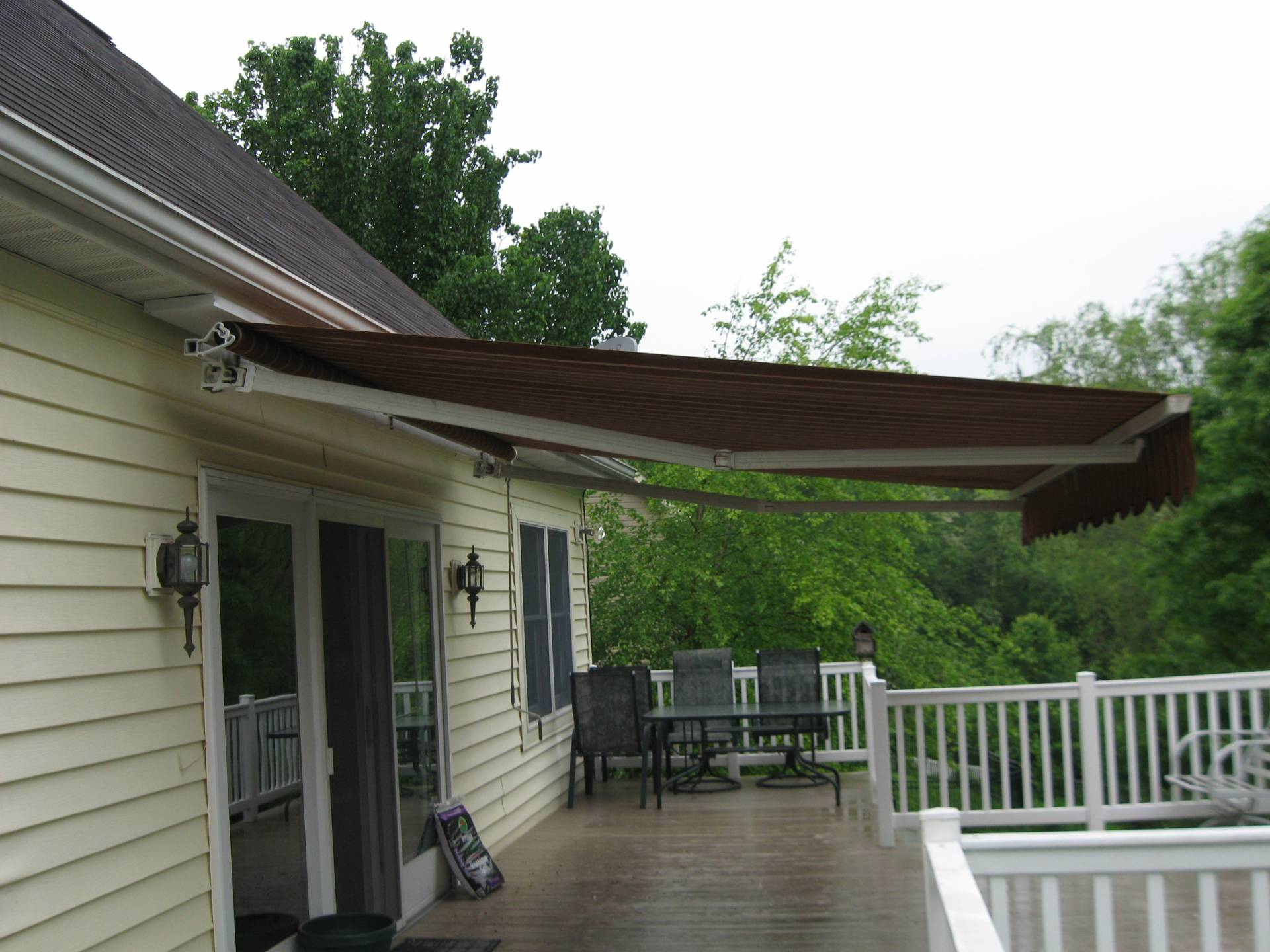 Retractable Deck Awning Installed In York