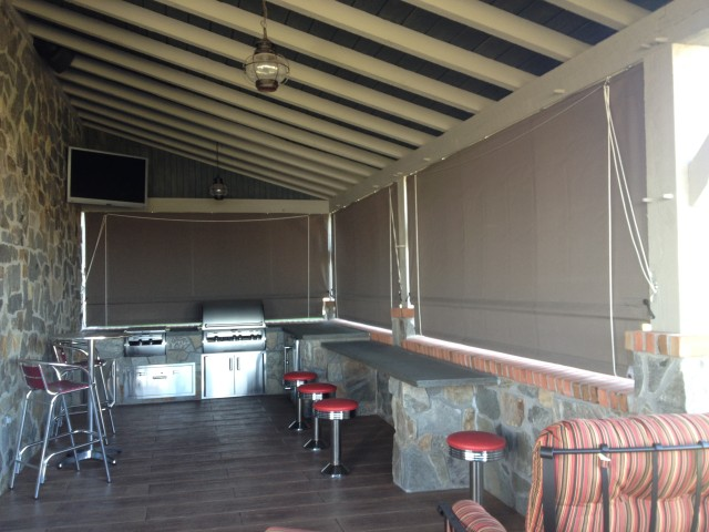 Sunbrella porch awning lititz pa kreider s canvas service inc - Outdoor Kitchen Drop Curtains Kreider S Canvas Service Inc