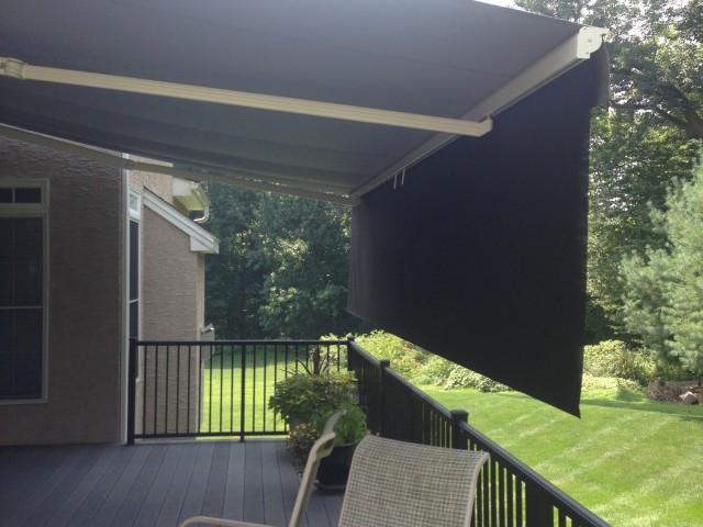 Retractable With A Roll Down Drop Screen Kreider S Canvas Service Inc