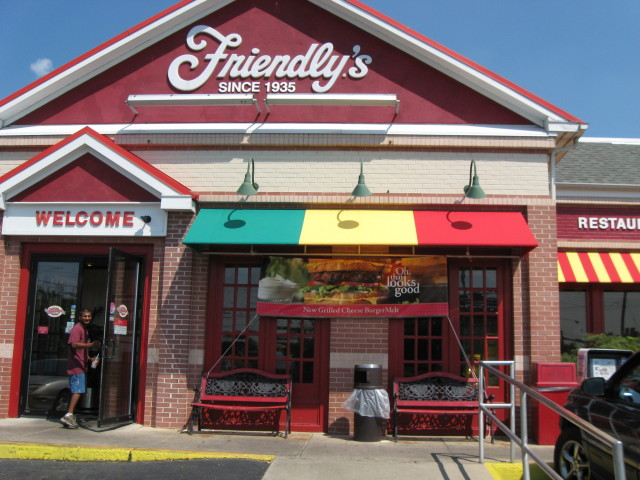 Striped Shed Style Awning On Friendly S Restaurant