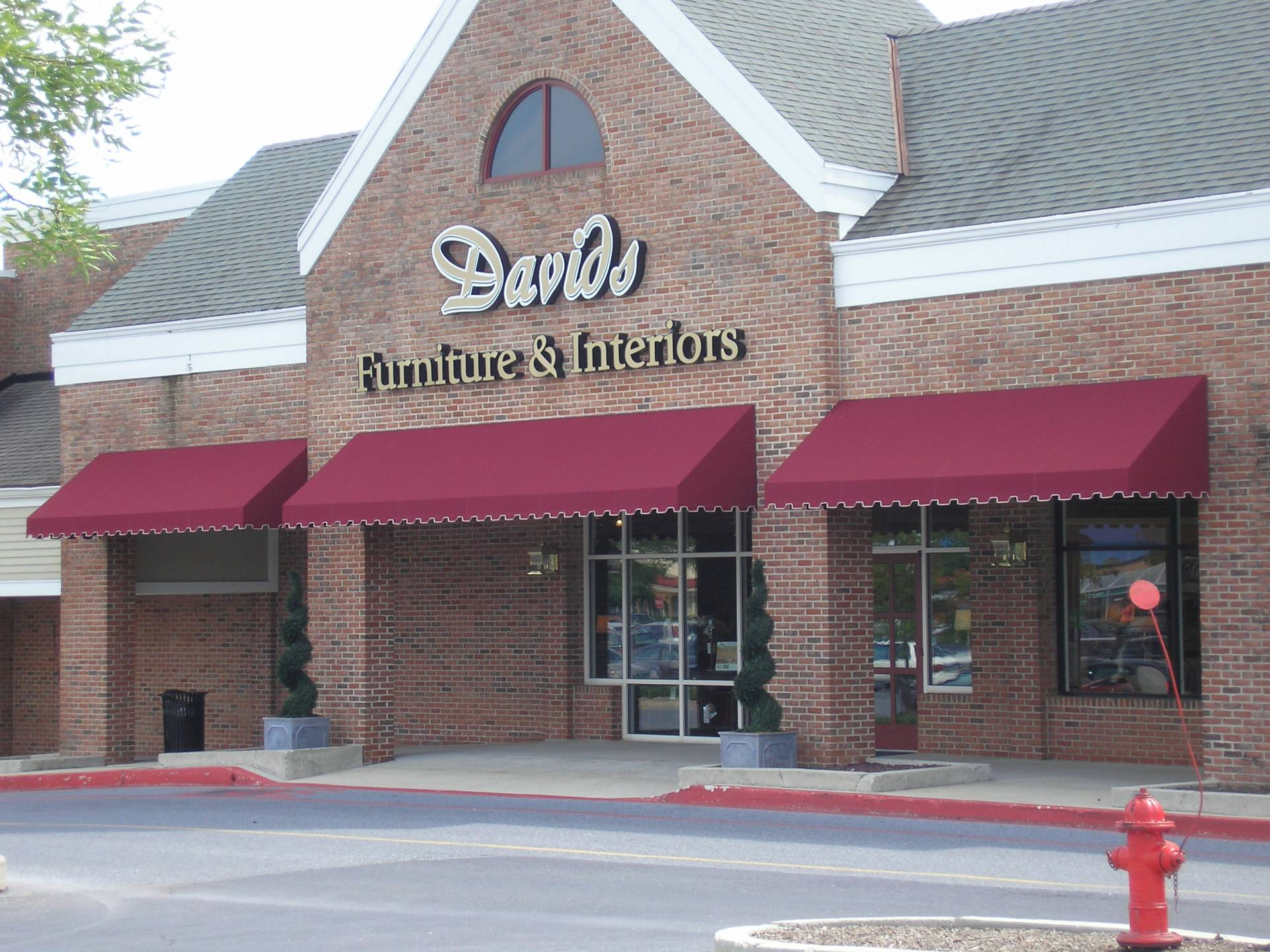 Awnings Installed At David 39 S Furniture In Harrisburg Pa Kreider 39 S Canvas Service Inc
