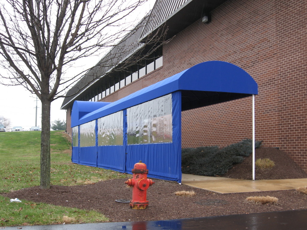 Half Barrel Style Walkway Cover Clipper Magazine Offices