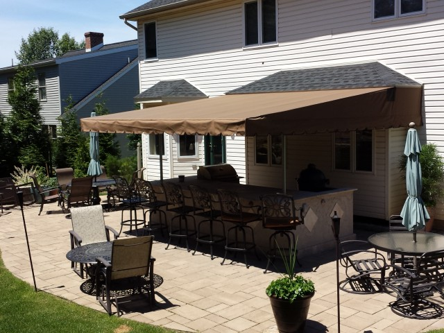 Outdoor Kitchen Canopy Kreider S Canvas Service Inc