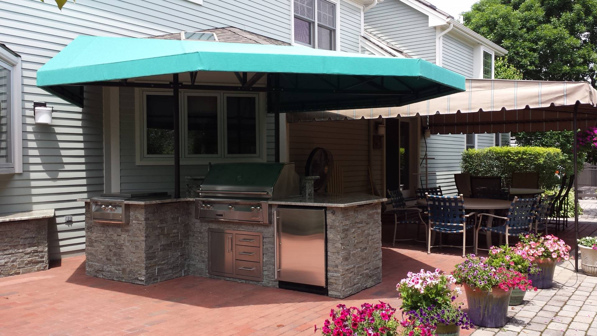outdoor kitchen canopy cover kreider 39 s canvas service inc