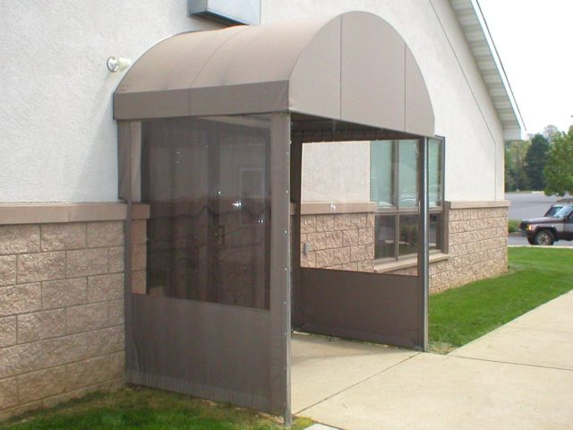 Protect your entrance door with an awning